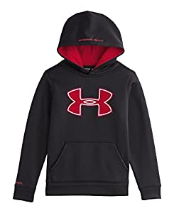 Under Armour Big Boys' UA Storm Armour® Fleece Big Logo Hoodie Youth Small Black