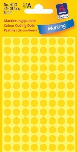 Avery Labels Yellow 8mm Dots Pk 520 avery ray avery ray stars of jazz hb bam