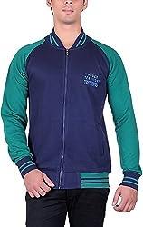 RGT Men's Fleece Regular Fit Sweatshirts (RGT6012NAVYGREEN-XXL)
