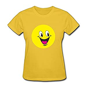 Vintage Smiling Face Design Tee Custom Tshirt Solid