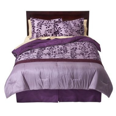 Learn More About 100% Cotton Flocked Comforter Set, Full/Queen size - Purple