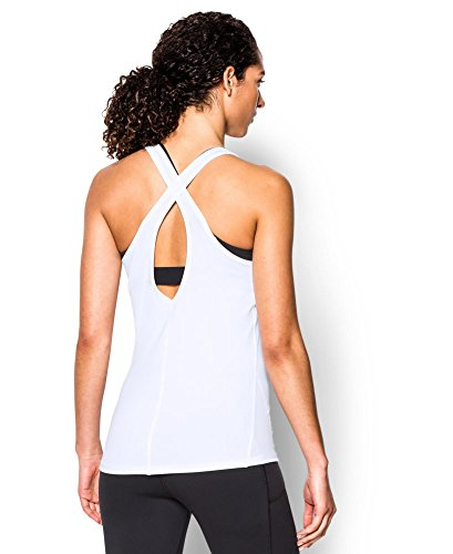 Under Armour Women's CoolSwitch Tank, White (100), X-Large
