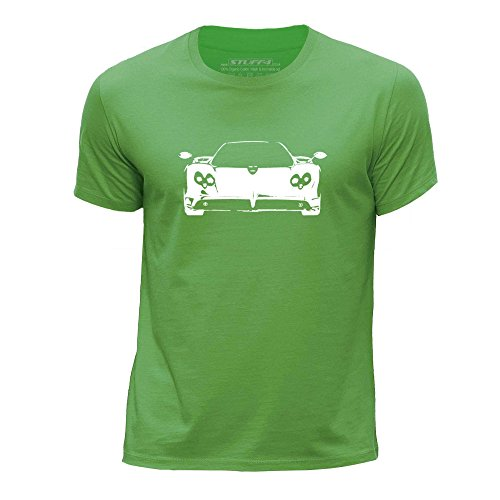 stuff4-boys-age-7-8-122-128cm-green-round-neck-t-shirt-stencil-car-art-zonda-f