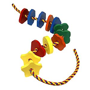 Holgate Jumbo Lacing Shapes Classic Made in USA Wood Toy