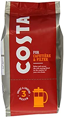 Costa Roast and Ground Coffee 200 g Bag from Costa