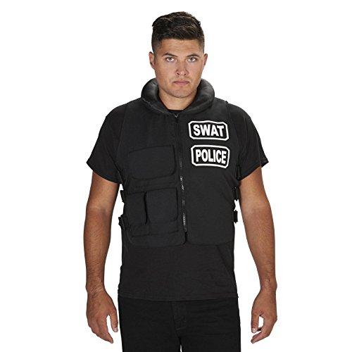 [SWAT Team Vest Adult Costume One Size] (Swat Vest Costume)