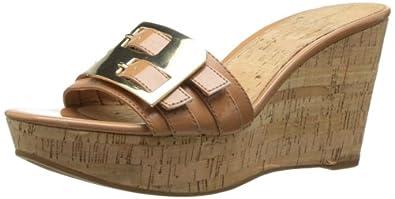 Nine West Women's Ednaellen Platform Sandal,Dark Natural,5 M US