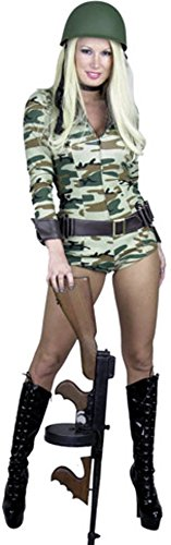 Sexy ARMY Camouflage Bodysuit Costume (Size: Small 5-7)