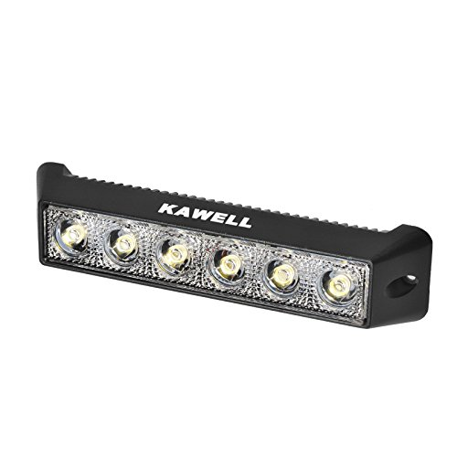 Kawell® 18W Dc 10-30V 6500K Led Flood 60 Degree Off Road Waterproof Work Light Bar For Jeep Cabin/Boat/Suv/Truck/Car/Atvs/Fishing/Deck Driving