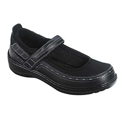 Orthofeet 877 - Women's Comfort Diabetic Extra Depth Casual and Dress Shoe: Black w/Lycra Lycra -5.0 M(C) Velcro