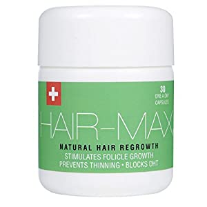 HAIR-MAX® - Hair Growth Supplement | Natural UK Hair Growth Supplement | Swiss Formulated To Increase Hair Growth, Block DHT & Prevent The Thinning Of Hair | Clinically Developed | 30 x 1000mg Tablets
