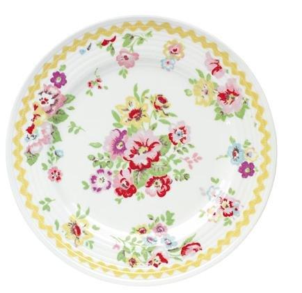 (キャスキッドソン)CathKidston 正規品 花柄 サイドプレート お皿 Side Plate Craham (イエロー)