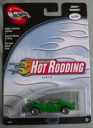 Hot Wheels 100% Popular Hot Rodding Series Chevy Camaro 4/4 GREEN
