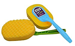 OKS 2 Piece (1+1 Free) Sponge Car Care Handy Wash Cleaning Brush (Assorted Colors)