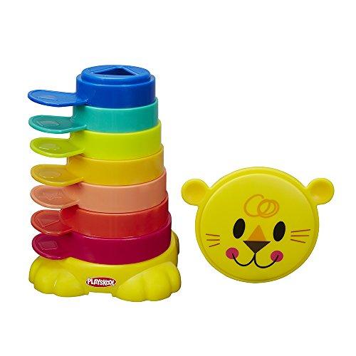 Playskool - León cubos apilables, +9 meses (Hasbro B0501EU4)