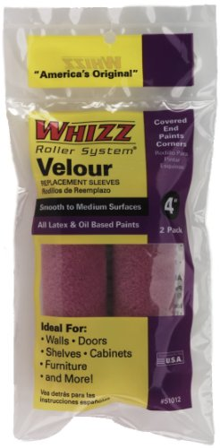 work-tools-international-51012-4-inch-whizz-paint-roller-cover-velour-fine-finish-2-pack