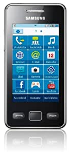 Samsung Star II S5260 Smartphone (7,62 cm  (3 Zoll) Touchscreen, 3MP Kamera, MP3-Player, WLAN, Bluetooth, t9-Trace) onyx-black