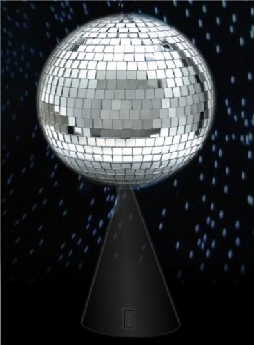 8'' Mirror Ball On Rotating Stand