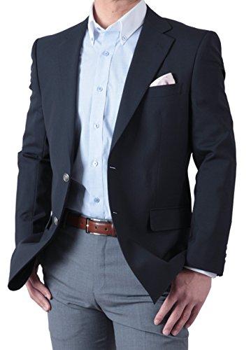 春夏 紺ブレザー シングル 2ツボタン メンズ ネイビージャケット 定番スタイル アイビールック