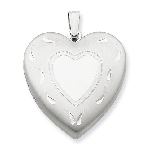 Sterling Silver 24mm D/C Heart Locket Real Goldia Designer Perfect Jewelry Gift for Christmas