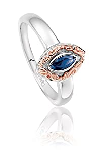 Clogau Gold White Gold and Sapphire Lilibet Ring - Size O