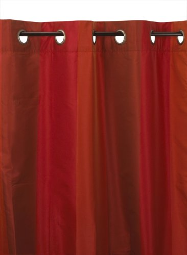 Umbra Concerto 50-Inch-by-84-Inch Taffeta Drapery Panel with Grommet Top, Cranberry