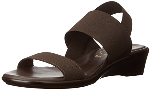 Italian Shoemakers Women's 9014s6 Wedge Sandal, Chocolate, 6 M US (Italian Shoes For Women Wedge compare prices)