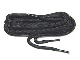 72 Inch 183 cm Heavy Duty Kevlar Reinforced Boot Laces Shoelaces (Black W/black) 2 Pair Pack