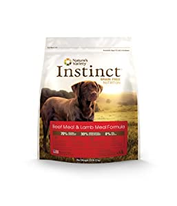 Instinct Grain-Free Beef Meal & Lamb Meal Dry Dog Food by Nature's Variety, 4.4-Pound Package