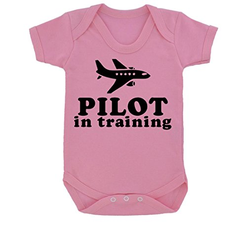 pilot-in-training-design-baby-body-baby-rosa-mit-schwarz-print-gr-68-rosa-pink