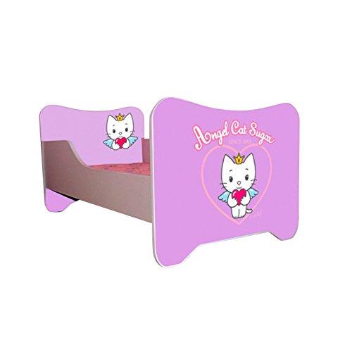 Kinderbett Angel Cat Sugar 70 x 140 cm, mit Lattenrost und Matratze, Lila bestellen