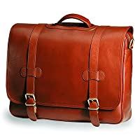 Bridle Executive Porthole Leather Laptop Briefcase Color: Bridle Cognac by Clava Leather