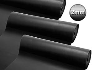 Gummiplatte NR/SBR | Stärke 2mm | 12 Größen wählbar | 120x500cm  BaumarktRezension