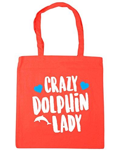 hippowarehouse-crazy-dolphin-lady-tote-shopping-gym-beach-bag-42cm-x38cm-10-litres