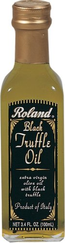 Roland Black Truffle Oil From Italy, 3.4-Ounce Glass Bottle  (Pack of 2)
