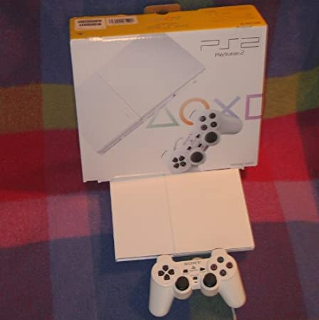 Japanese Slim Ceramic White Playstation PS2 (Import Video Game Console)