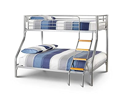 "Happy Beds Atlas Triple Sleeper 3' And 4'6"" Solid Metal Bunk Bed Frame"