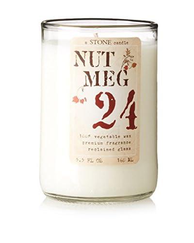 Stone Candles 5.5-Oz. Reclaimed Wine Bottle Candle, Nutmeg Vanilla