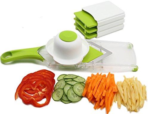 NexGadget V-Blade Mandoline Slicer - Vegetable Slicer - Julienne Slicer - Onion Cutter - French Fry Potato Cutter with Stainless Steel Blade (Potato Fries Slicer compare prices)