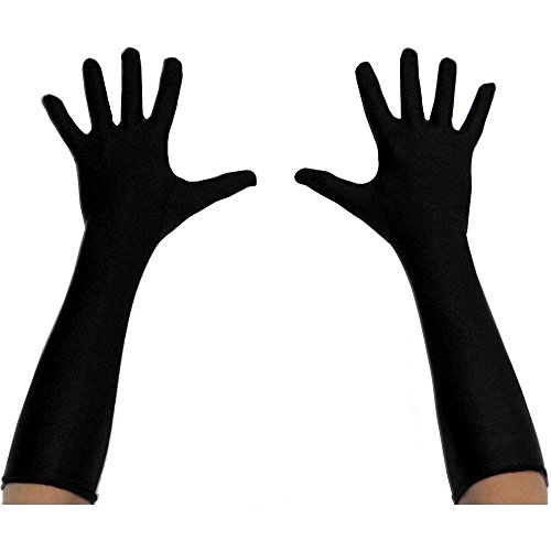 Black Long Superhero Gloves