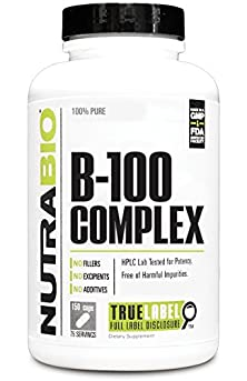 buy Nutrabio Vitamin B-100 Complex - 150 Vegetable Capsules