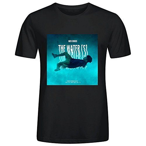 Mick Jenkins The Waters Mens Sexy Tee Shirts O Neck Black (The Waters Mick Jenkins compare prices)