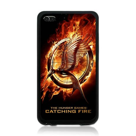 Hunger Games Catching Fire Movie Tpu Rubber Plus Hard Case Cover Skin for Ipod Touch 4 4th Generation - Free Plastic Retail Packaging Box