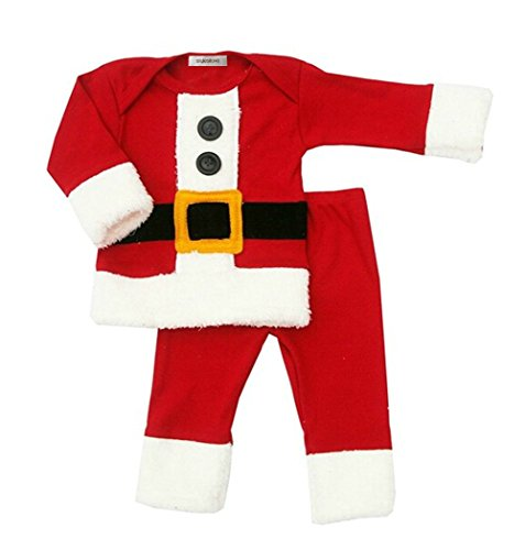 [StylesILove Baby Boy Holiday Christmas Santa 2-PC Costume Outfit (18-24 Months)] (Cute Santa Outfits)