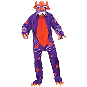 Mighty Monster (Purple & Orange) - Adult Costume Adult - One Size