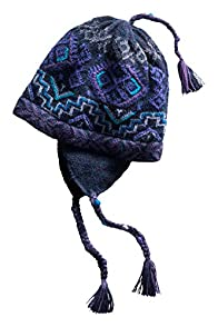 Tey-Art Silverthorn Fleece Lined Fair Trade Earflap Hat (Blue)