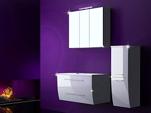 4-Tlg-Badmbel-Set-Badezimmermbel-Komplett-Set-Waschbeckenschrank-120-cm-mit-Waschtisch-Spiegelschrank-mit-LED-Weiss-Hochglanz