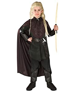 """Lord Of The Rings Costume, Kids Legolas Costume, Large, Age 8 - 10, HEIGHT 4' 8"""" - 5'"""