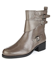 Autograph Leather Multiple Strap Biker Boots with Insolia Flex®
