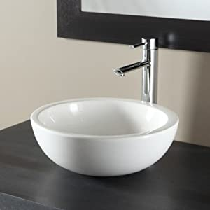 vasque poser bol design blanche bricolage. Black Bedroom Furniture Sets. Home Design Ideas